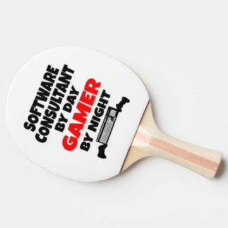 Software Consultant by Day Gamer by Night Ping Pong Paddle
