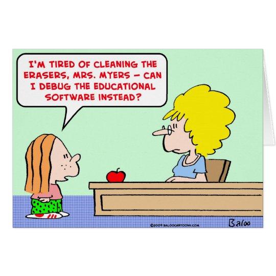 software debug teacher card