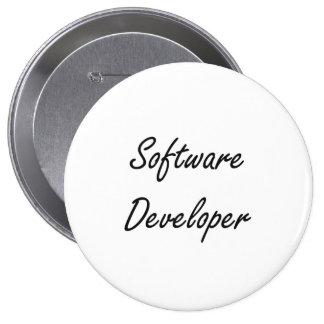 Software Developer Artistic Job Design 4 Inch Round Button