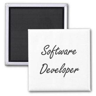 Software Developer Artistic Job Design 2 Inch Square Magnet