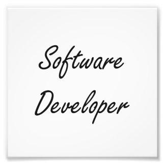 Software Developer Artistic Job Design Photo Print