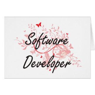 Software Developer Artistic Job Design with Butter Card