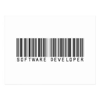 Software Developer Bar Code Post Cards