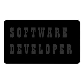 Software Developer Double-Sided Standard Business Cards (Pack Of 100)