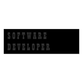 Software Developer Double-Sided Mini Business Cards (Pack Of 20)