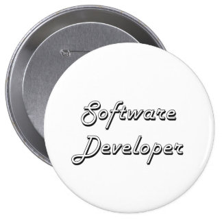 Software Developer Classic Job Design 4 Inch Round Button