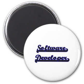 Software Developer Classic Job Design 2 Inch Round Magnet