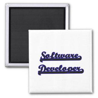 Software Developer Classic Job Design 2 Inch Square Magnet