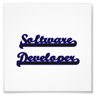 Software Developer Classic Job Design Photo Print