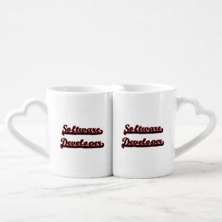 Software Developer Classic Job Design Couples' Coffee Mug Set
