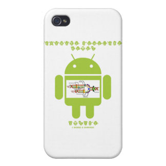 Software Developer Genes Inside (Bug Droid) Covers For iPhone 4