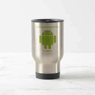 Software Developer Inside (Bug Droid Font Letters) Travel Mug