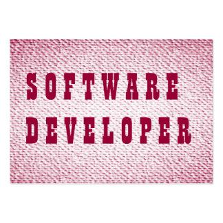 Software Developer Large Business Card