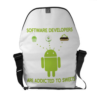 Software Developers Are Addicted To Sweets Courier Bag