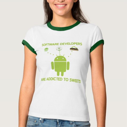 Software Developers Are Addicted To Sweets T-Shirt