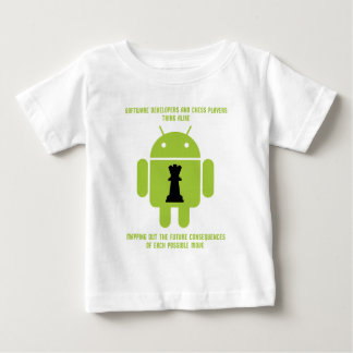 Software Developers Chess Players Think Android Baby T-Shirt