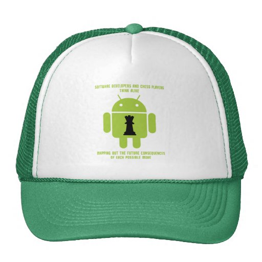 Software Developers Chess Players Think Android Trucker Hat