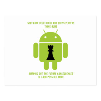 Software Developers Chess Players Think Android Postcard