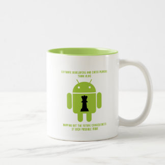 Software Developers Chess Players Think Android Two-Tone Coffee Mug
