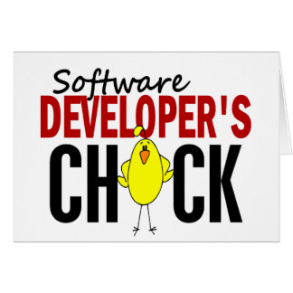 Software Developer's Chick Greeting Card