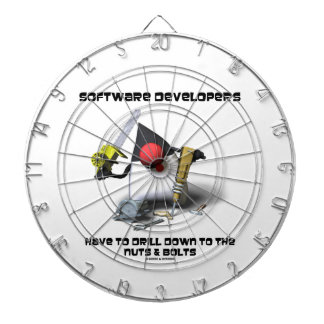 Software Developers Have To Drill Down To The Nuts Dart Board