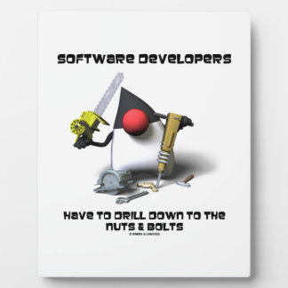 Software Developers Have To Drill Down To The Nuts Plaque