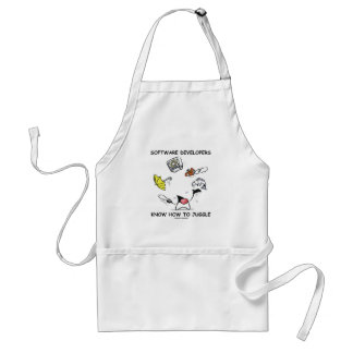 Software Developers Know How To Juggle (Duke) Adult Apron