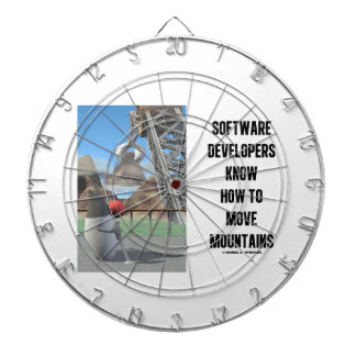 Software Developers Know How To Move Mountains Dartboard