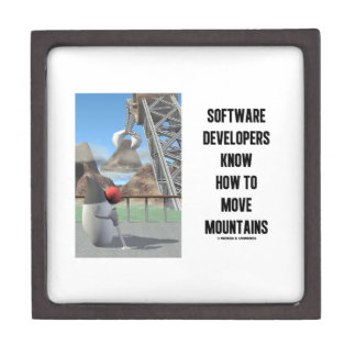 Software Developers Know How To Move Mountains Jewelry Box