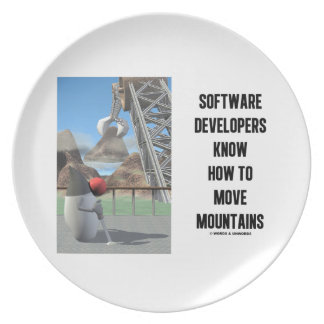 Software Developers Know How To Move Mountains Melamine Plate