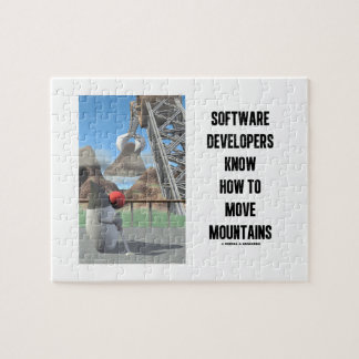 Software Developers Know How To Move Mountains Jigsaw Puzzles