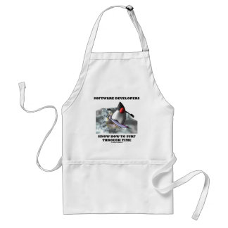 Software Developers Know How To Surf Through Time Adult Apron