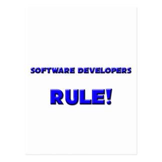 Software Developers Rule Postcards