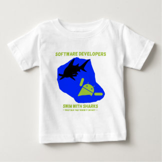 Software Developers Swim With Sharks (Android) Baby T-Shirt