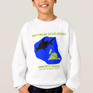 Software Developers Swim With Sharks (Android) Sweatshirt