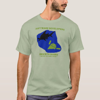 Software Developers Swim With Sharks (Android) T-Shirt