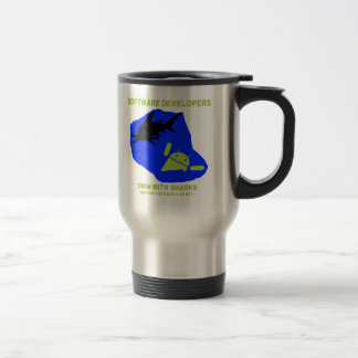 Software Developers Swim With Sharks (Android) Travel Mug