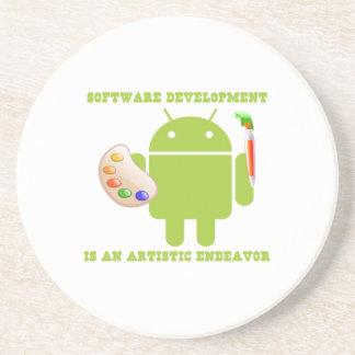 Software Development Is An Artistic Endeavor Coaster