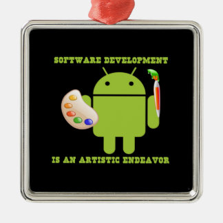 Software Development Is An Artistic Endeavor Christmas Tree Ornaments