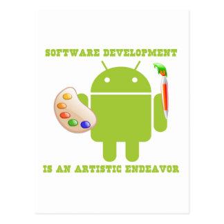 Software Development Is An Artistic Endeavor Postcard