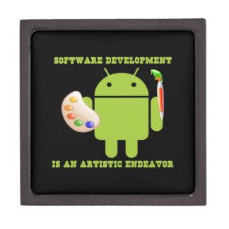 Software Development Is An Artistic Endeavor Premium Trinket Boxes