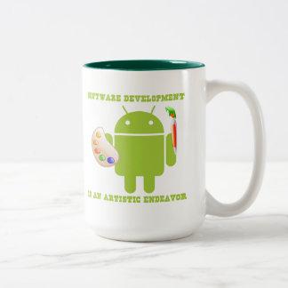 Software Development Is An Artistic Endeavor Two-Tone Coffee Mug