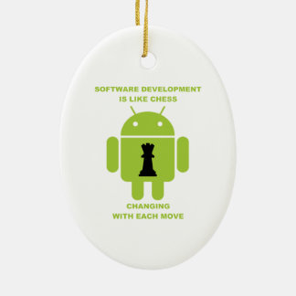Software Development Is Like Chess Changing Move Christmas Ornament