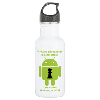 Software Development Is Like Chess Changing Move 18oz Water Bottle