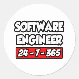 Software Engineer 24-7-365 Classic Round Sticker