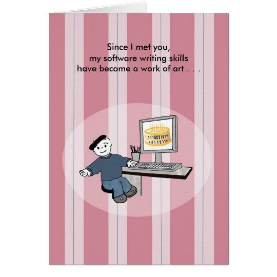 Software Engineer as Artiste - Birthday Card