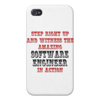 Software Engineer asombrosa en la acción iPhone 4 Carcasa