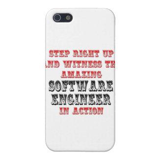 Software Engineer asombrosa en la acción iPhone 5 Fundas