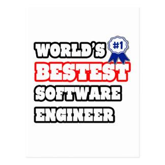 Software Engineer de Bestest del mundo Tarjetas Postales