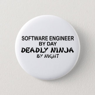Software Engineer Deadly Ninja Pinback Button